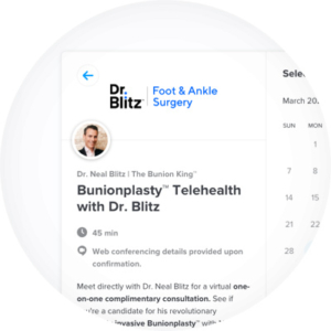 Dr. Blitz Calendly Telehealth Scheduling Page