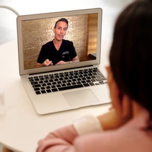 Telehealth video call with Dr. Blitz